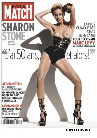 "Sharon Stone в журнале ""Paris Match"" ()"