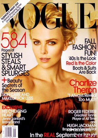 "Charlize Theron в журнале ""US Vogue"" (сентябрь 2009)"