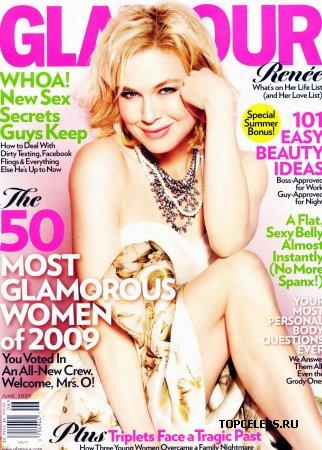 "Renee Zellwegger в журнале ""Glamour"" (июнь 2009)"