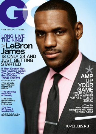 "LeBron James в журнале ""GQ US"" (февраль 2009)"