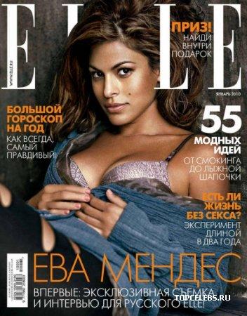 """Eva Mendes в журнале """"Elle Russia"""" (январь 2010)"""