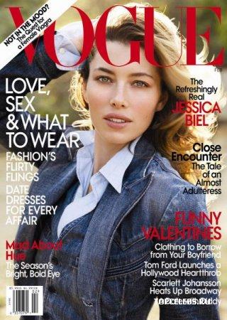 Jessica Biel в журнале Vogue (февраль 2010)