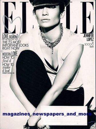 Jennifer Lopez в журнале Elle US (февраль 2010)