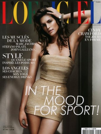 Cindy Crawford в журнале L'Officiel Paris (апрель 2010)