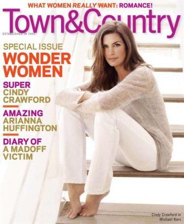 Cindy Crawford в журнале Town Country (февраль 2010)