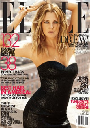 Drew Barrymore в журнале Elle (август 2010)