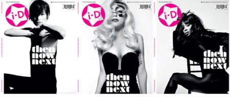 Lady Gaga, Naomi Campbell и Kate Moss в журнале i-D (сентябрь 2010)