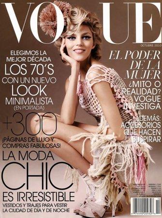 Anja Rubik в журнале Vogue Latin America (октябрь 2010)