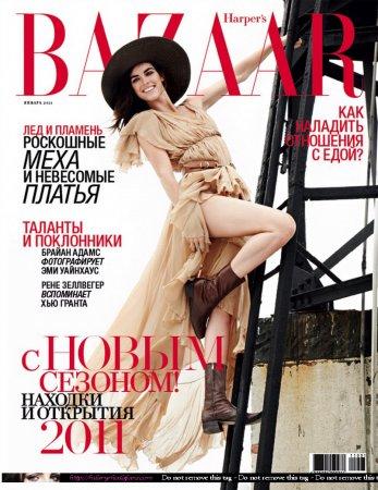 Hilary Rhoda в журнале Harper's Bazaar Russia (январь 2011)