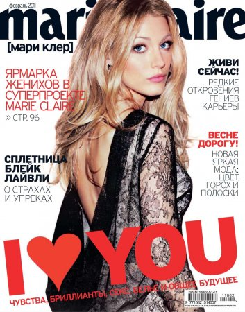 Blake Lively в журнале Marie Claire Russia (февраль 2011)
