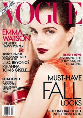 Emma Watson для журнала Vogue US (июль 2011)
