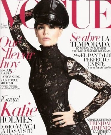 Katie Holmes в журнале Vogue (август 2011)
