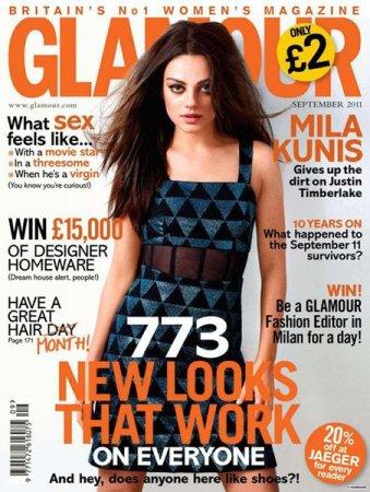 Mila Kunis в журнале Glamour UK (сентябрь 2011)