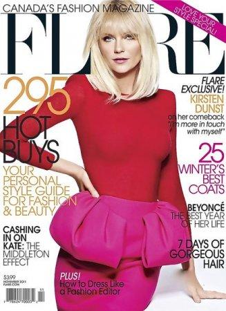 Kirsten Dunst в журнале Flare (ноябрь 2011)