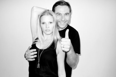 Lara Stone со своим мужем David Walliams в студии Terry Richardson (ноябрь 2011)