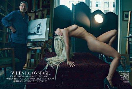 Леди Гага обнажилась для Vanity Fair