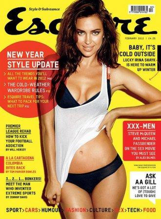 Ирина Шейк в февральском номере журнала Esquire UK