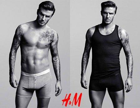 Дэвид Бэкхем рекламирует нижнее белье H&M