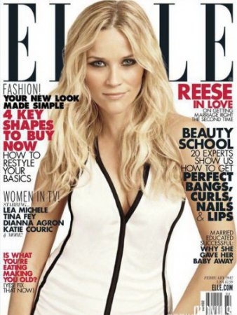 Риз Уизерспун в журнале Elle