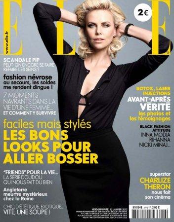 Шарлиз Терон на обложке Elle France