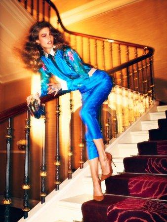 Кендра Спирс для февральского номера Vogue Russia