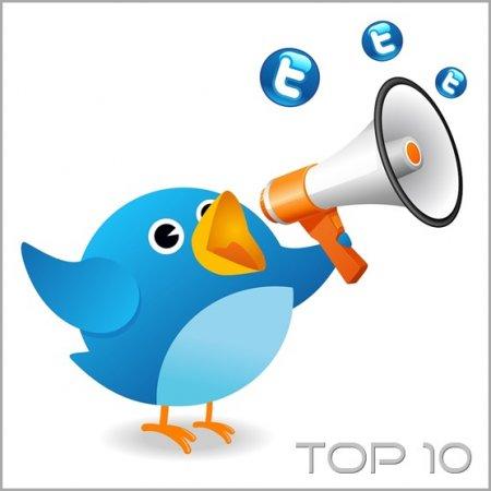 Top 10 знаменитостей в Twitter