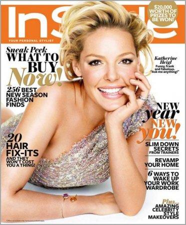 Кэтрин Хейгл для журнала InStyle. Февраль 2012