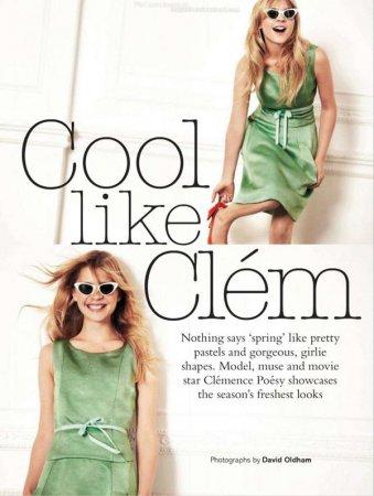 Клеменс Поэзи в журнале Glamour UK (февраль 2012)